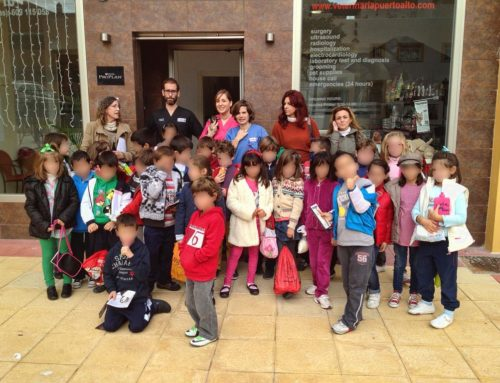 Visita de la clase 2C del Colegio Víctor de la Serna (Estepona)