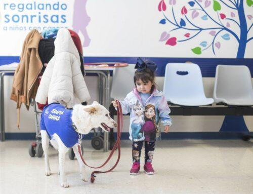Terapia con perros para ayudar a niños ingresados en el Hospital de Granada